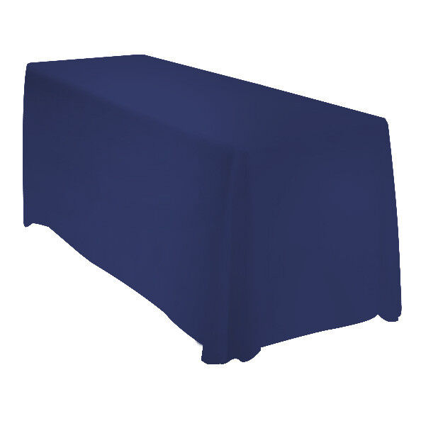 90x132 Tablecloth Table Cover Rectangle Wedding Banquet Event - NAVY BLUE