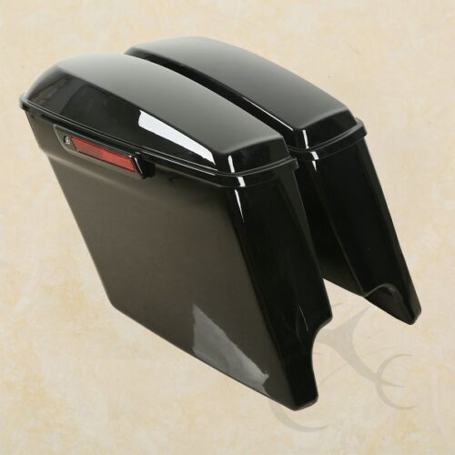 "5/"" Stretched Extended Saddlebags W// Latch Key Fit For Harley Touring 14-19 17 18"