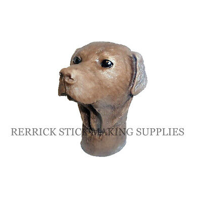 CHOCOLATE LABRADOR CAST RESIN HANDLE FOR WALKING STICK MAKING