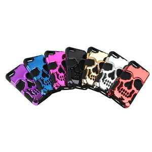 Hybrid-Skull-Skeleton-Bone-Hard-Soft-Silicone-Case-Cover-For-Apple-iPhone-5c-Hot