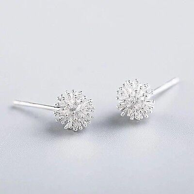925 Sterlingsilber Damen Ohrstecker Ohrringe Pusteblume Blume Blumen Silber