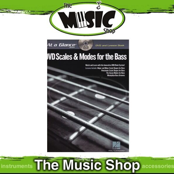 New At A Glance: DVD Scales & Modes for Bass with Lesson Book - Guitar Tuition