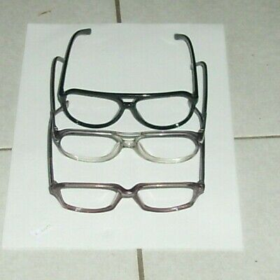 lot of 3 empty eyeglass frames: Luxottica, Urbana, brown (Nylon Eyeglass Frames)