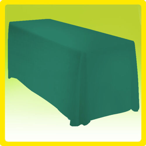 90x132 Rectangle Polyester Tablecloth Wedding Banquet Event - GREEN
