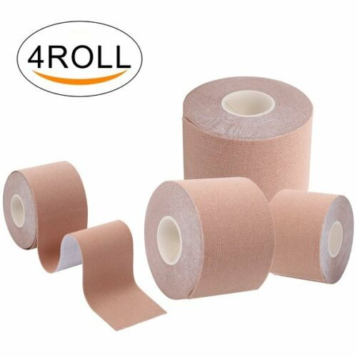 4x Skin color Sports Muscle Tape Kinesiology Strain Injury Support Physio Rolls
