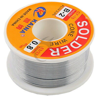 0.8mm Tin Lead Line Soldering Wire Reel 6337 Rosin Core Solder 14m Length Wire