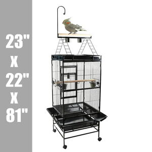 Play Top Bird Parrot Cockatiel Macaw Conure Cage W/ Gym Perch Stand