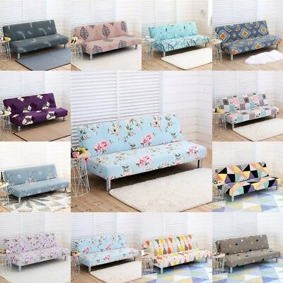Folding Armless Sofa Cover Furniture Seater Protector Easy Fit Couch Slipcovers