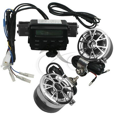 Motorcycle Motor Bike Audio FM Radio iPod MP3 Music Stereo Speaker Sound System