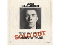 Liam Gallagher - Finsbury Park - VIP Package Tickets X 4