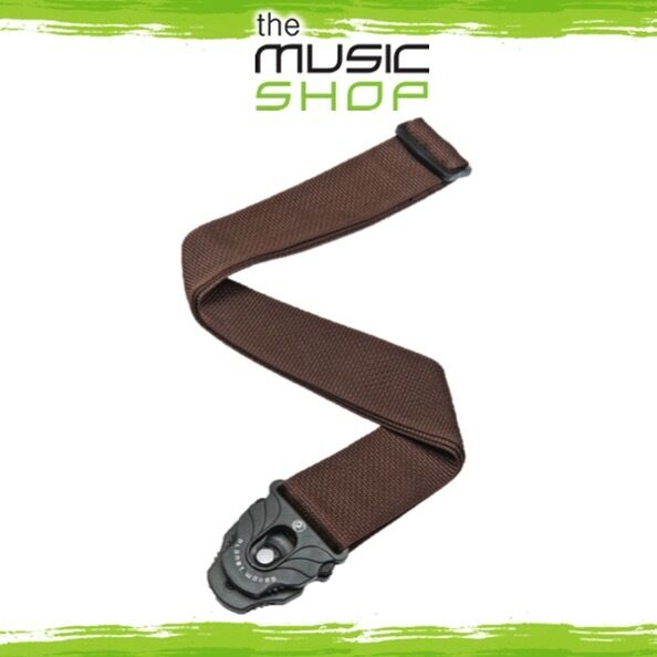 Planet Waves Brown Poly Guitar Strap with Planet Lock Ends - Adjustable PWSPL209
