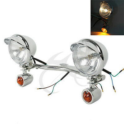 Motorcycle Driving Passing Turn Signal Spot Light Bar For Harley Davidson Models