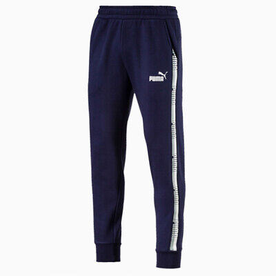 Puma Mens Tape Track Pants Casual Lounge Joggers Navy 852418 06 XX Large