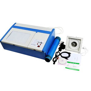 40W CO2 LASER ENGRAVER SUPPORT W/ CORELDRAW ENGRAVING CUTTING MACHINE LOCAL SHIP