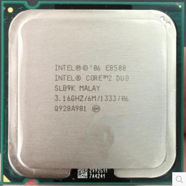 Intel Core 2 Duo E8500 E8500 - 3.16GHz Dual-Core (BX80570E8500A) Processor