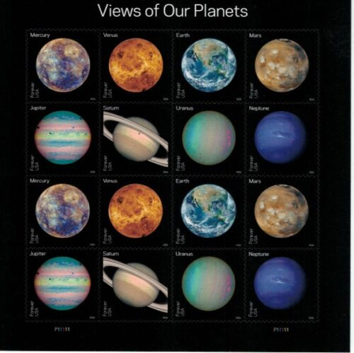#5069-5076 Views of Our Planets Pane of 16 Forever Stamps (2016)