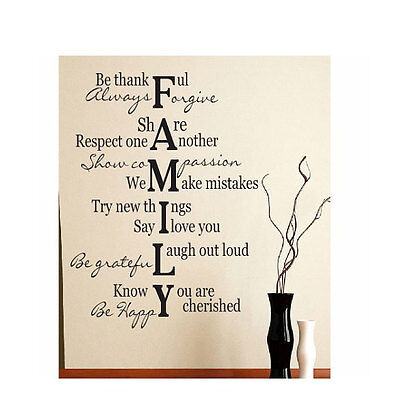 Family Verse Quote Vinyl Art Wall Decal Lettering Words Sticker Saying 17  X 30