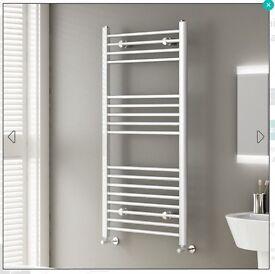 NEW White Straight Rail Ladder Towel Radiator 1200x600mm