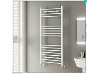 NEW White Straight Rail Ladder Towel Radiator 1200x600mm