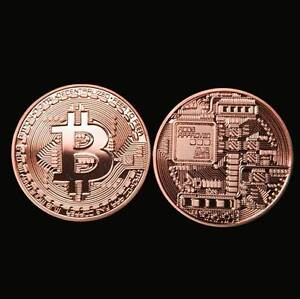 Bitcoin-Collectible-Physical-Coin-Red-Copper-Making-1-Ounce-Very-nice