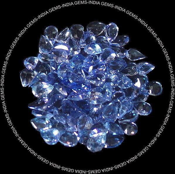 IF/VVS Wholesale Lot 4x3mm Pear Cut Earth Mined Tanzanite Gems Tanzania GEM EDH