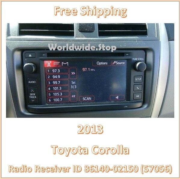 Used toyota other interior parts for sale 2013 toyota corolla am fm cd player radio with display screen id 57056 oem asfbconference2016 Images