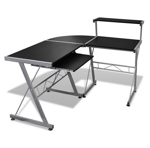 Tavolo scrivania porta pc/computer ad angolo colore nero