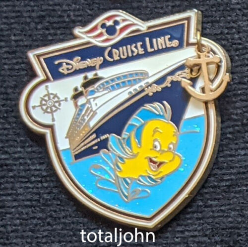 83210 DCL - Anchor Characters with Ship - Flounder Pin