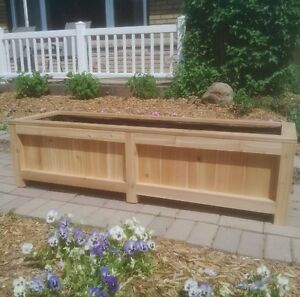 Western Red Cedar Raised Vegetable Garden Flower Planter