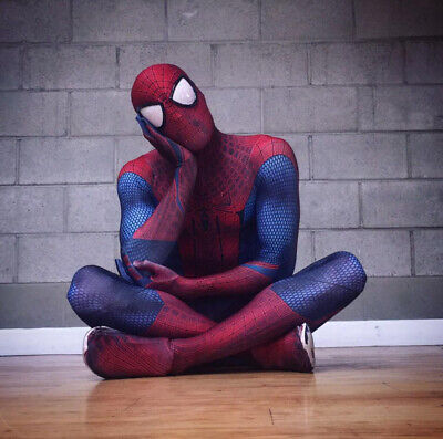 Amazing Spiderman Suit (Halloween The Amazing Spiderman Tights Cosplay Costumes Zentai Suit 3D)