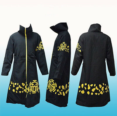 Neu Anime Cosplay Trafalgar Law One Piece Anime Manga Costume Kostüm Mantel 001
