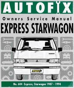 Mitsubishi express engines in newcastle region nsw gumtree mitsubishi express starwagon 1987 1994 autofix repair manual fandeluxe Images