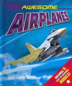 ▀▄▀Awesome Airplanes by Kath Jewitt Hardcover Book