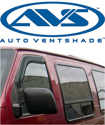 AVS 92077 Tape-On FRONT Windows ONLY Ventvisors 2-Piece 92-99 Ford Full Size Van (Avs 92077)