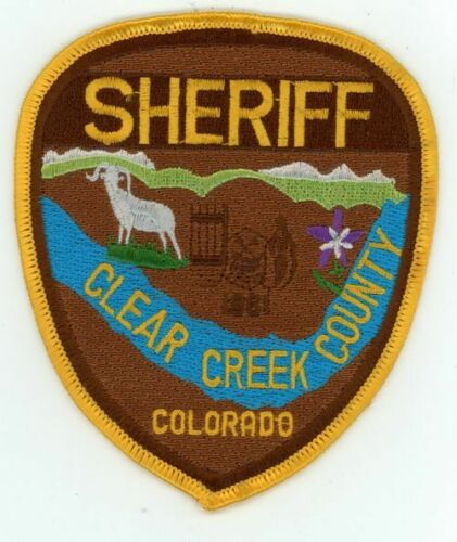 CLEAR CREEK COUNTY SHERIFF COLORADO NEW SHOULDER PATCH POLICE