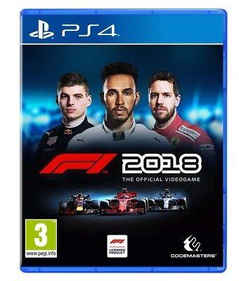 F1 2018 STANDARD EDITION PS4 VIDEOGIOCO ITALIANO FORMULA 1 2019 PLAY STATION 4