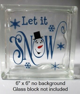 Cute Let it SNOW with snowman face Christmas decal sticker for 8