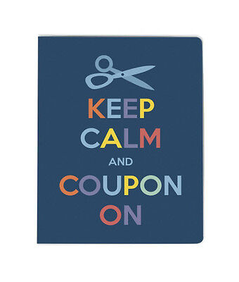 Coupon Organizer With 58 Pocket 20 Pages Holder Carrier Wallet Card Blue New