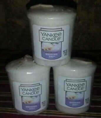 Lot of 3-Yankee Candle WEDDING DAY Votives, Great Scent, Customer Fave!