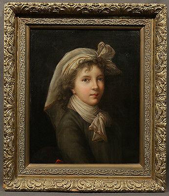 Style Circle of Elisabeth Vigée Le Brun Oil Painting, Portrait of Vigee Le Brun