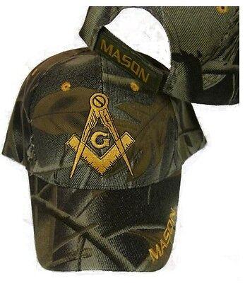 Freemason Camo Embroidered Adjustable Hat Mason Masonic Lodge Camouflage Cap A67