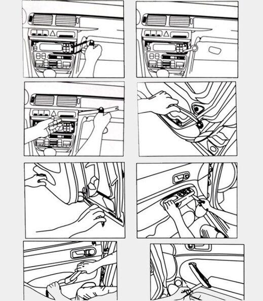 13pcs Car Panel Removal Open Pry Tools Kit Dash Door Radio