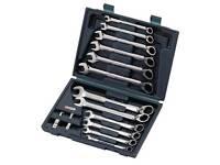 KS Tools 503.4666 GEARplus reversing combination ratcheting spanner set,16 pcs