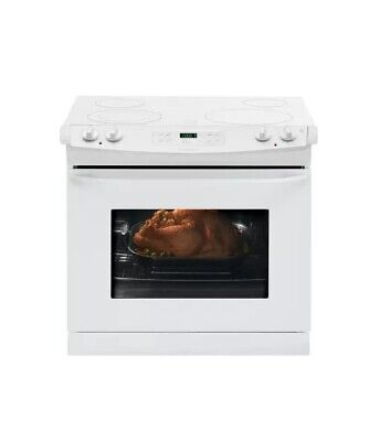 """Frigidaire FFED3025PW 30"""" White Drop-In Smoothtop Electric R"""