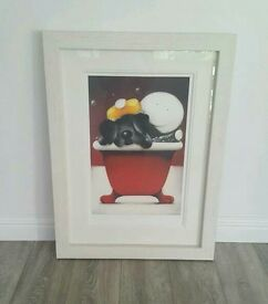 Doug Hyde Framed Print Limited Edition Mucky Pup Signed