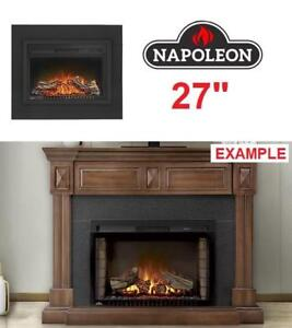"NEW NPOLEON 27"" FIREPLACE INSERT NEFB27H-3A 222655328 W/ LOGS CINEMA ELECTRIC"