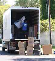 Hire a Professional Moving Company. Two movers with a truck.