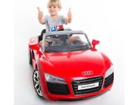 Licensed Audi R8 12v ride on car with remote control music and lights (leeds) only £160