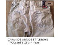ZARA KIDS VINTAGE STYLE BOYS Jeans 3-4 Years