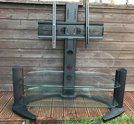 TV glass and metal stand